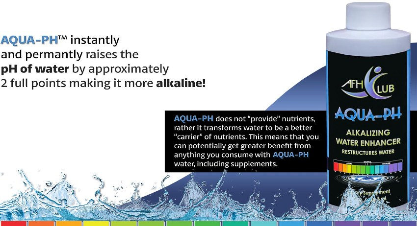 aqua ph fx alkalizing water enhancer