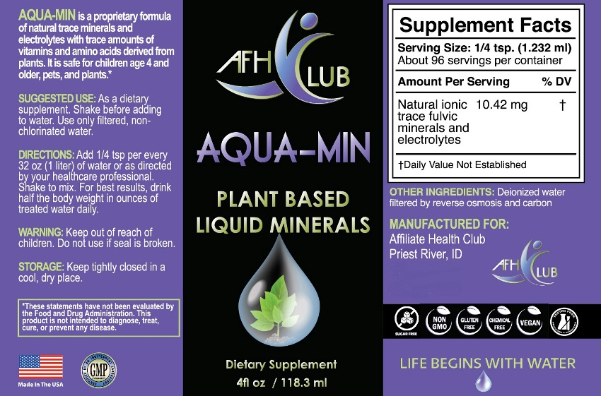 aqua min minerals facts
