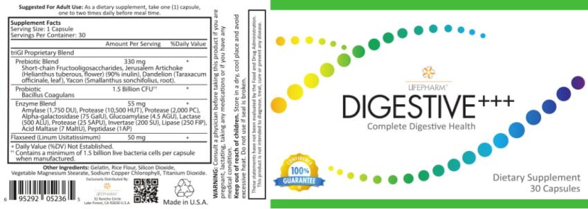 lpgn digestive plus label