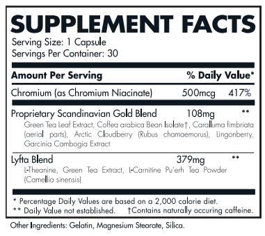 visi lyfta nutrition facts
