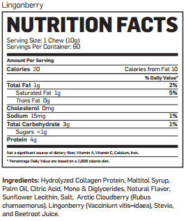 visi probita chews nutrition facts lingonberry